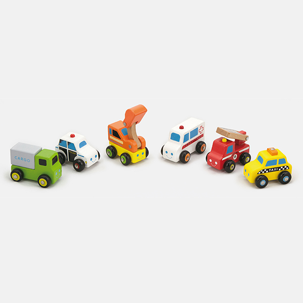 Crane Truck with Magnetic Blocks Wooden Vehicle Playset Toy for Kids Viga Toys